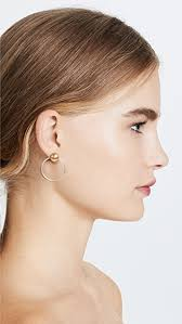 front back earrings madewell mixed metal front back earrings shopbop