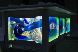 hand made fused glass light panels kailua outdoor lanai light