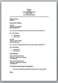 Resume Template Basic by Basic Resume Template Word Thisisantler