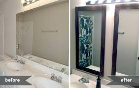 Framing Bathroom Mirrors Diy Framing Bathroom Mirror Framing Bathroom Mirrors Gray House Studio