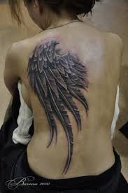 back tattoos wings one wing on back for tattoo tattoos book