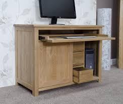 Cheap Computer Desks Uk Opus Solid Oak Hideaway Computer Desk Oak Furniture Uk