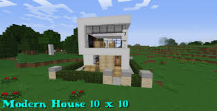 small house minecraft modern house 10x10 minecraft project