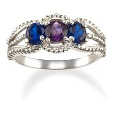 best mothers rings images 3 stone family birthstone mothers ring in 14k white gold only