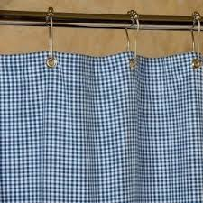 Gingham Curtains Blue Gingham Shower Curtains Foter