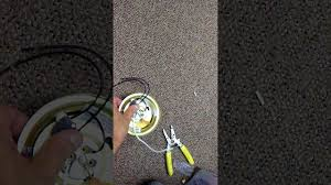 replace a pull chain switch on a ceiling light youtube