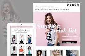 fashion e shop summer fashion e mail newsletter template psd e commerce fashion e