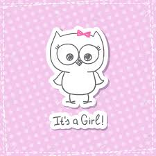 owls baby shower vector baby owl baby shower card template it s a