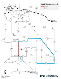 Mn Road Map Plans To Modify Hwy 22 Detour Week Of July 10