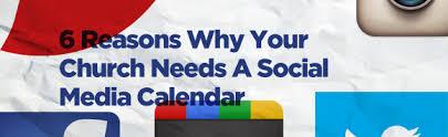 6 reasons why your church needs a social media calendar with a