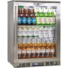 heated glass 1 door commercial stainless steel bar fridge