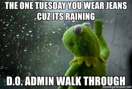 Rainy Day Meme - kermit rainy day meme generator
