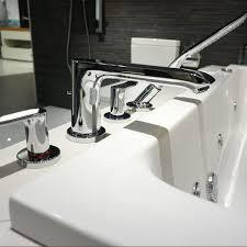 hansgrohe metris 4 hole rim mounted bath and shower mixer uk