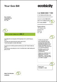 your gas bill explained customer services ecotricity