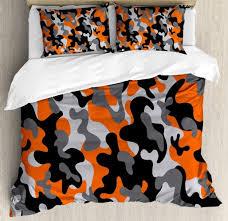 Orange Camo Bed Set Camouflage Bedding Sets Comfy Bedding