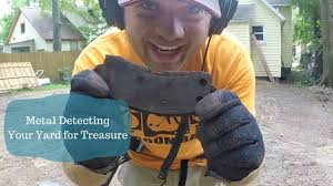 metal detecting your own backyard for treasure youtube