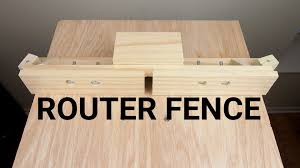 how to make a router table fence youtube