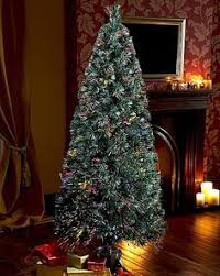 Fibre Optic Slim Christmas Trees - 9 ft x 72 in appalachian deluxe fir 3009 realistic molded tips