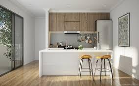 cuisine bois gris moderne cuisine bois et blanc moderne 25 idées d aménagement