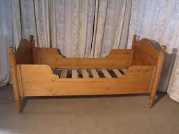 Antique Sleigh Bed Single Pine Sleigh Bed Lit Bateau 192602