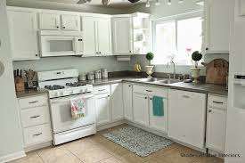 used white kitchen cabinets makeover monday i painted my kitchen cabinets shades of blue