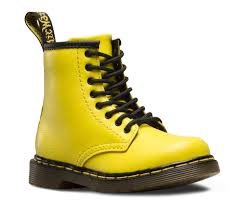 yellow boots s shoes yellow brooklee dr martens sneakers
