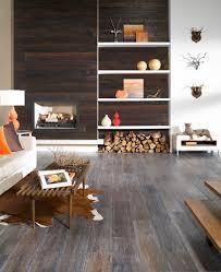 creative design interior with hardwood flooring on walls and