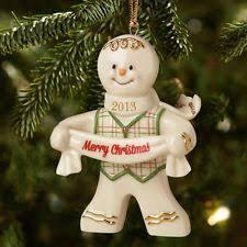 Lenox Christmas Ornaments 2013 by Lenox Gingerbread Ebay