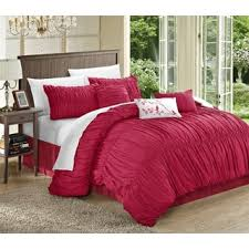 Ruffled Comforter Chic Home Frances 7 Piece Pink Pleated And Ruffled Comforter Set