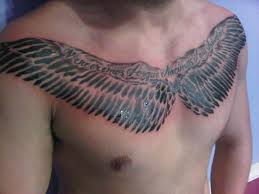 large wings chest tattoos large chest tattoos