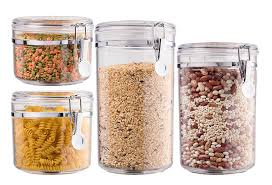 oggi kitchen canisters amazon com bellemain 4 piece airtight acrylic canister set food