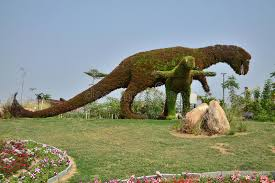 dinosaur decoration with flowers editorial image image 86592545