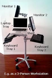 rolling stand up desk dvc02 dlpta rolling laptop pole station adjustable ergo stand up