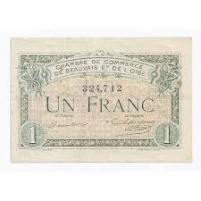 chambre des commerces beauvais 60 beauvais 1 franc 1920 chambre de commerce oise tres
