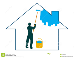 painting the house royalty free stock photos image 23685988