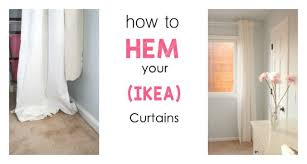 Hemming Tape Curtains The Easiest Way To Hem Ikea Curtains This Bold Home
