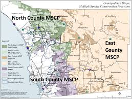 Maps San Diego by Multiple Species Conservation Program