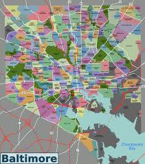 Districts Of New Orleans Map by List Of Baltimore Neighborhoods Wikiwand
