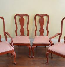 drexel heritage cherry queen anne style dining chairs ebth