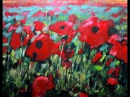 Vase With Red Poppies How To Paint With Acrylics Field Of Poppies Abstract Realism