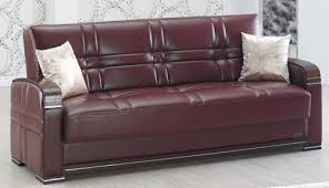 Maroon Leather Sofa Burgundy Leather Sofa Bed By Empire Furniture Usa