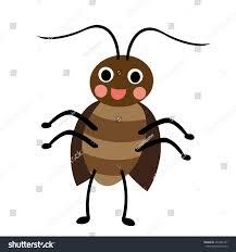 happy standing cockroach animal cartoon character stock vector