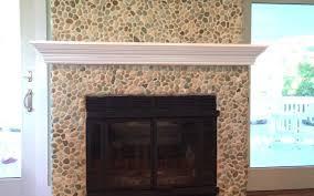 sea green pebble tile fireplace surround u0026 hearth pebble tile shop