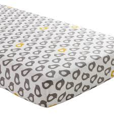 yellow and grey crib fitted sheet the land of nod