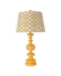 modern style table lamp with yellow striped fabric shade parrotuncle