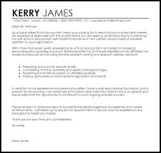 sample of cover letter for accounting job fund accountant cover letter sample livecareer