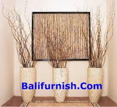 Vase With Twigs Decorating With Sticks And Twigs Leaves Ribs Palm Leaf Bones