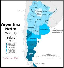 Patagonia South America Map Argentina U0027s Striking North South Economic Divide Geocurrents