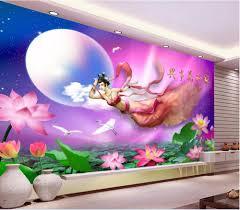 custom mural 3d room wallpaper lotus pond flying fairy home