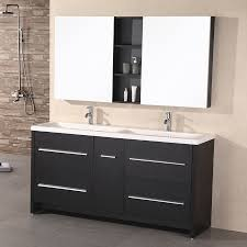 Espresso Double Vanity Shop Design Element Perfecta Espresso Integrated Double Sink